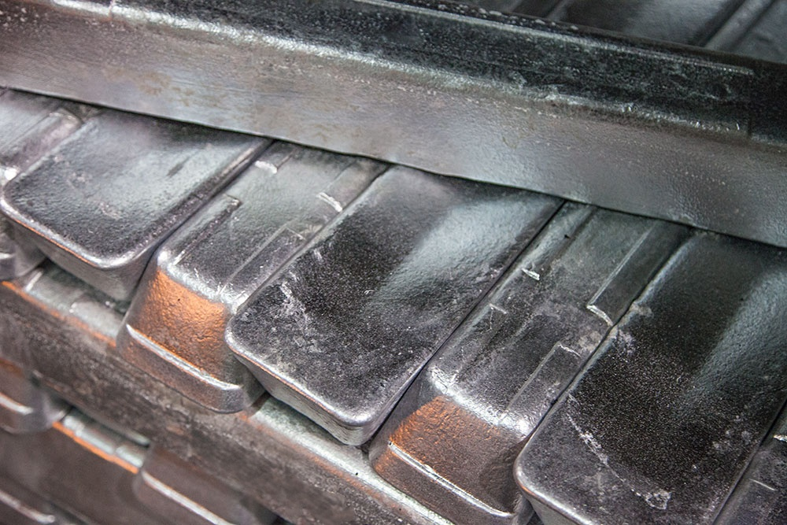 Aluminum casting - aluminum ingot ready to be cast at Eagle Aluminum Cast Products, Inc.