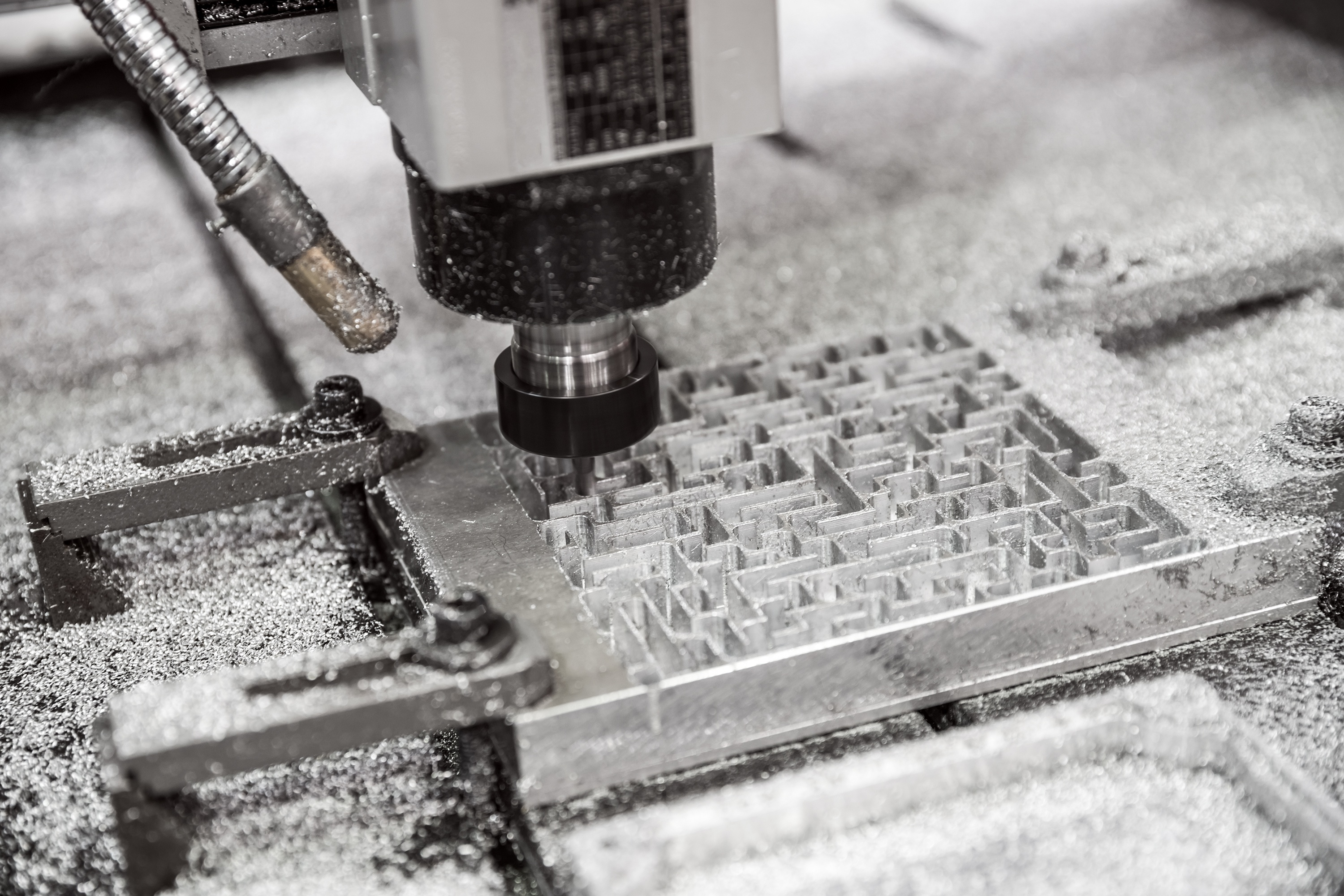 What CNC Machine Shops Do - CNC Milling - Slot Milling a Metal Maze