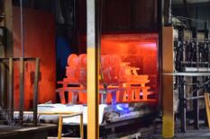Heat-treating castings as part of the finishing process at Eagle Alloy