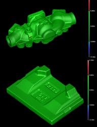 3D Scanner mesh overlays cas parts
