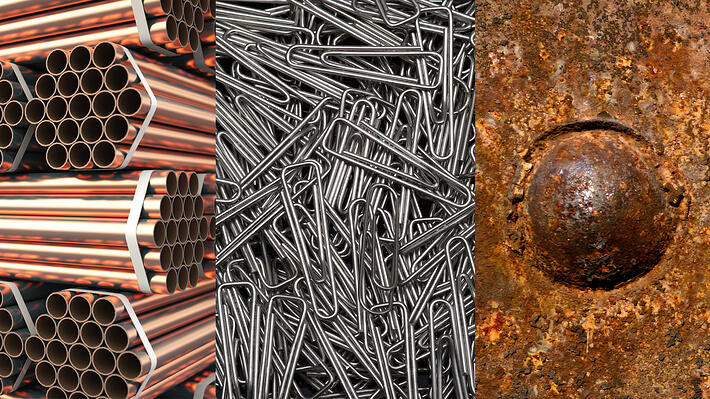 Different types of metal surfaces