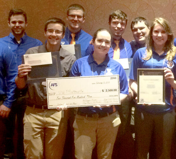 University of Wisconsin, Platteville: 1st Prize Winner in the 2018 Competition