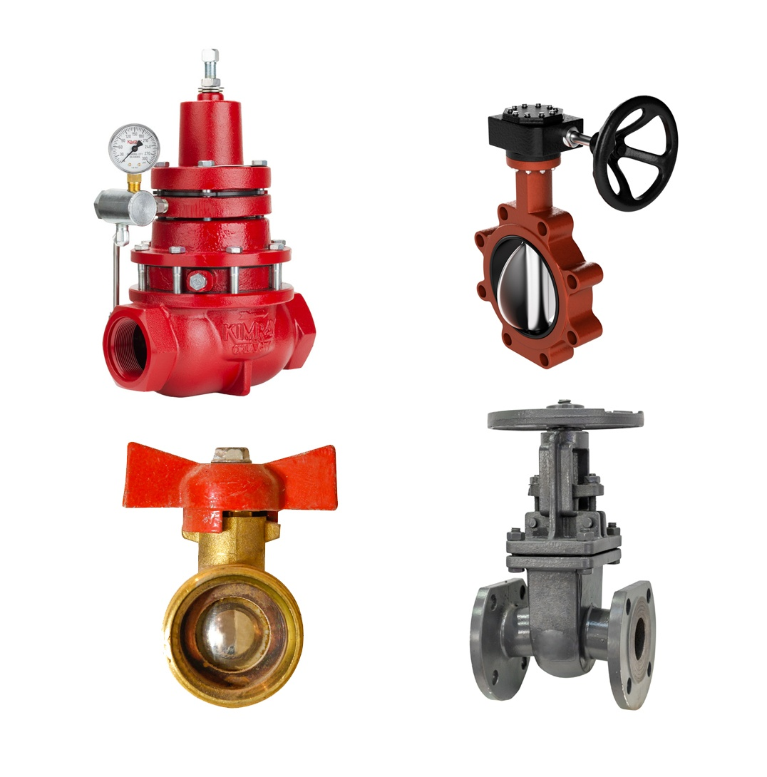 Types of Industrial Valves: Globe valve, butterfly valve, gate valve, ball valve
