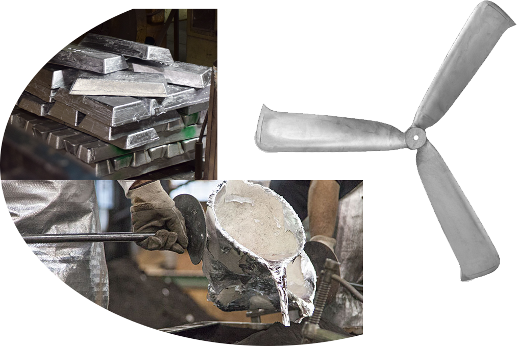 Permanent Mold Casting Case Study: Aluminum Fan Blades