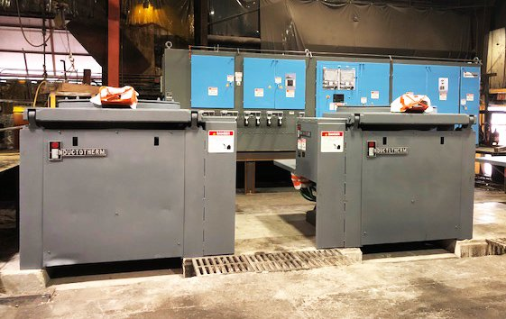 Induction melting furnaces at Eagle Alloy