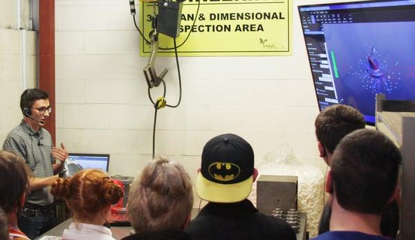 Manufacturing Day at Eagle Alloy - Laser Scanner Inspection Demonstration