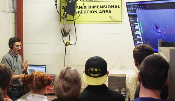 Manufacturing Day at Eagle Alloy - Laser Scanner Inspection Demonstration