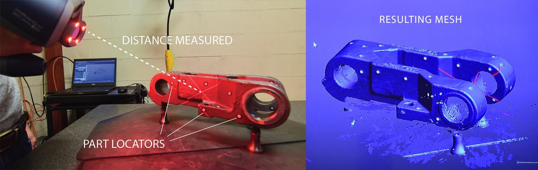 laser scanner and mesh-labeled