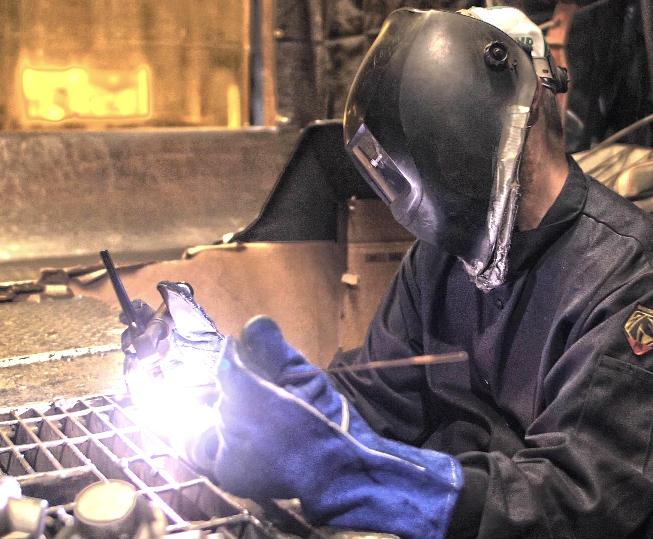 Weld repairing steel castings