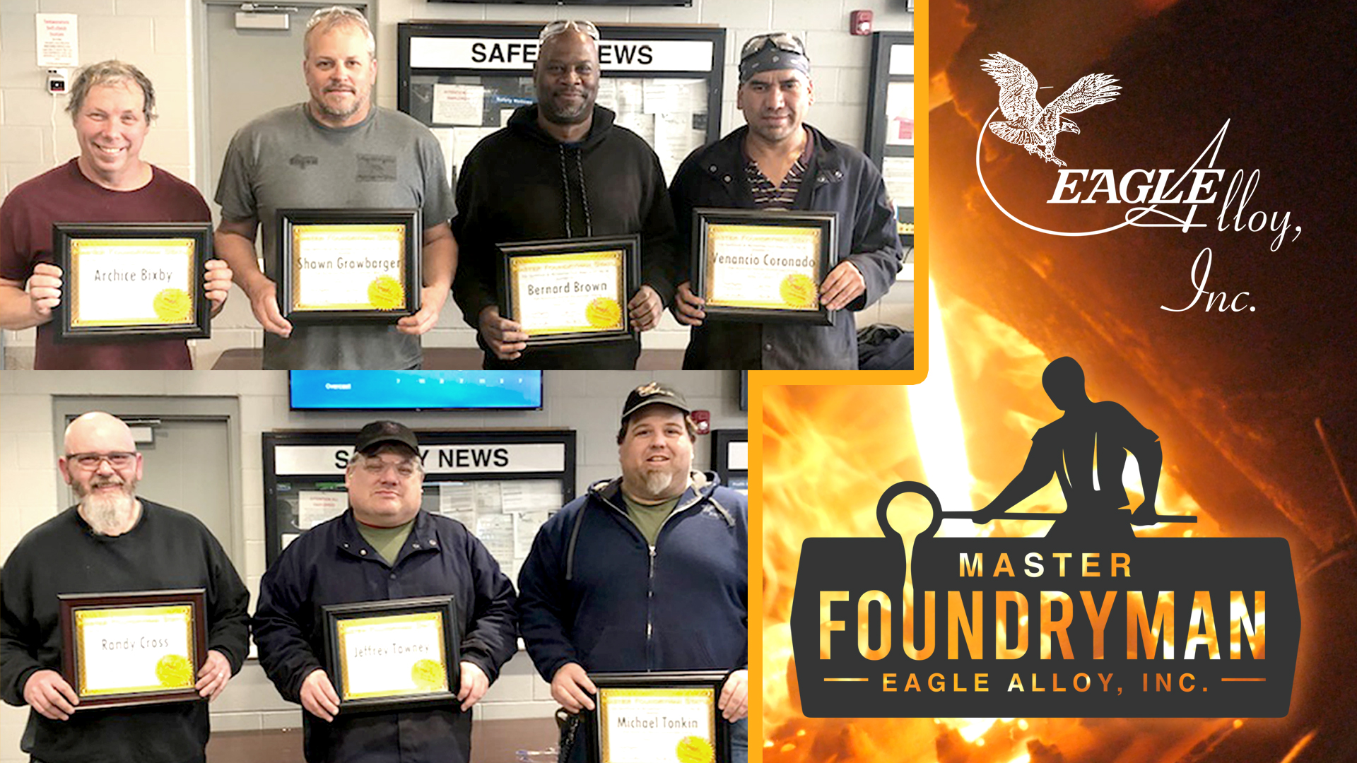 Congratulations to Eagle Alloy's First Class of Master Foundrymen